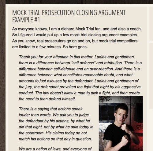 mock trial closing argument examples prosecution and